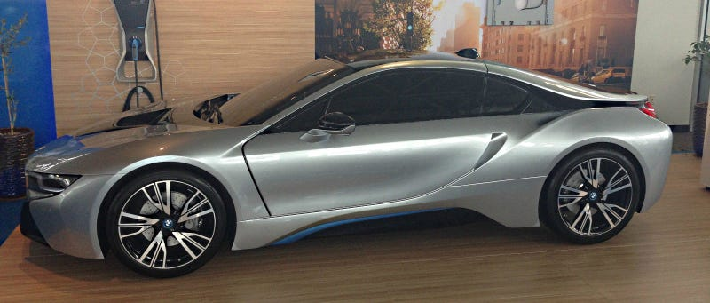 Illustration for article titled Here's The Full-Scale BMW i8 Model That You Never Knew You Wanted