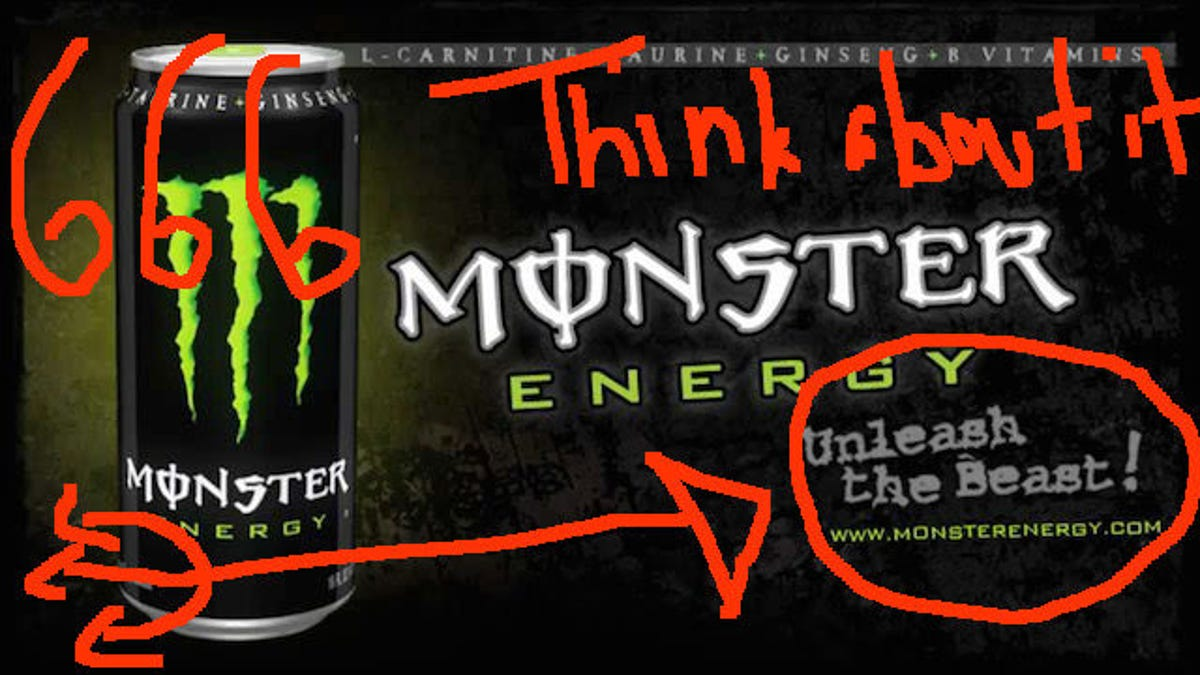 Image result for monster energy satan