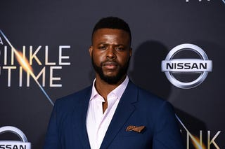 Winston Duke attends Premiere Of Disney's 'A Wrinkle In Time' - Arrivals on February 26, 2018 in Los Angeles, California.