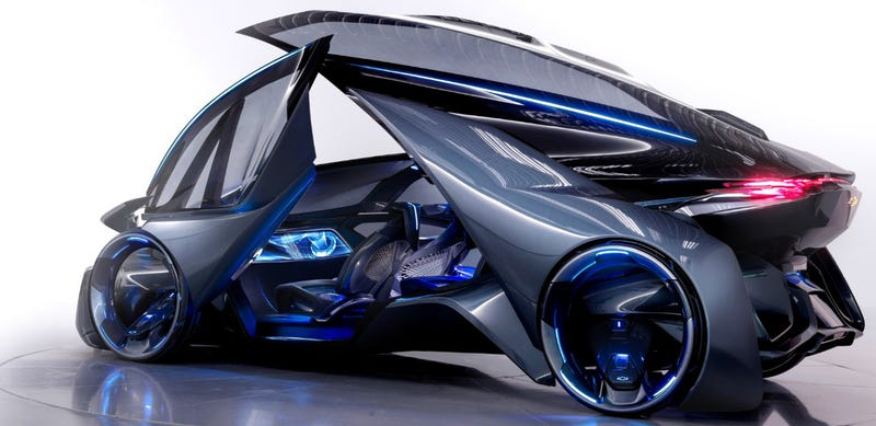Illustration for article titled Your Eyes Aren't Ready For The Self-Driving Chevrolet-FNR Concept