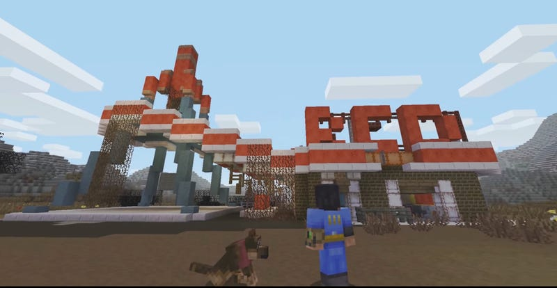 Illustration for article titled Minecraft Gets A Fallout Makeover