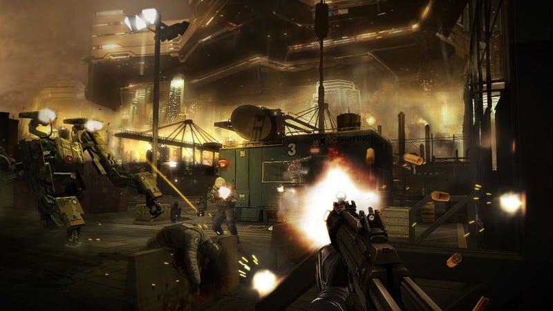 Illustration for article titled New Deus Ex: Human Revolution Screens Black, Gold & A Little Old