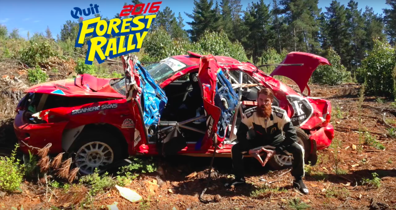 Illustration for article titled Australian Rally Drivers Give Unbelievably Relaxed Recap Of Crash They Just Survived