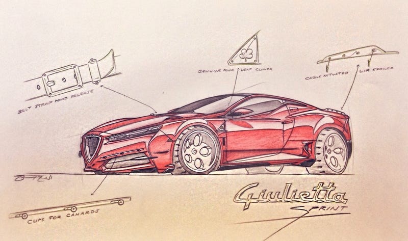 Illustration for article titled Alfa Romeo Giulietta Sprint Design