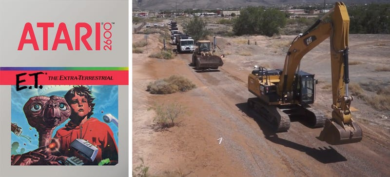 Illustration for article titled The Atari E.T. Landfill Excavation Starts Today. What Will They Find?