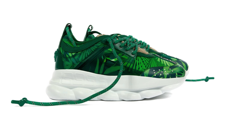 Illustration for article titled Is This Shoe OK? J. Lo's Green Versace Dress… As a Sneaker