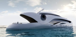 Illustration for article titled Oculus Yacht Mimics a Giant, Man-Eating Fish