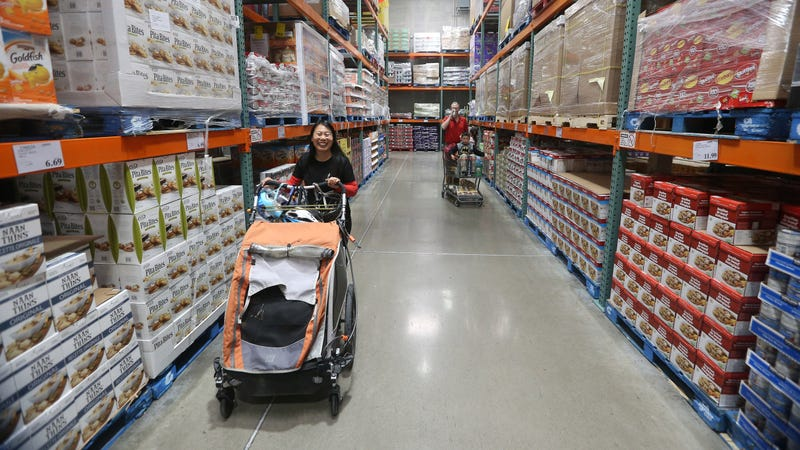 See how happy this Costco shopper is? (Photo: Steve Russell/Toronto Star via Getty Images)
