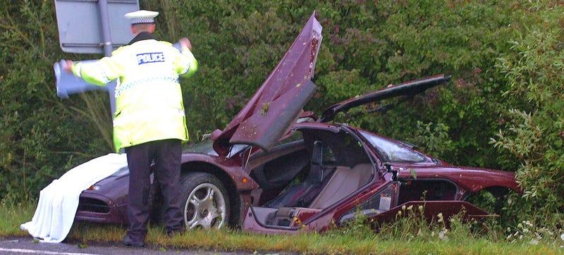 Rowan Atkinson Car Accident Photos