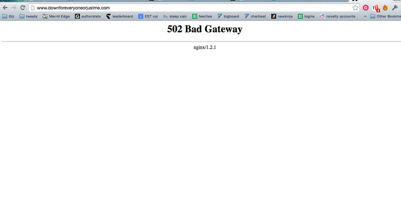 Illustration for article titled The Site That Tells You if Sites Are Down Is Down