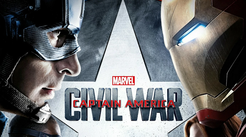 The classic poster for Captain America: Civil War.
