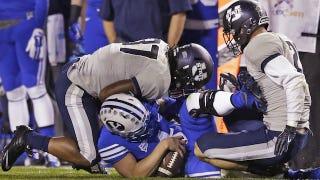 Illustration for article titled BYU Loses Quarterback Taysom Hill, Falls Apart Against Utah State
