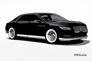 Illustration for article titled Lincoln Continental Looks Damn Good in a Tuxedo