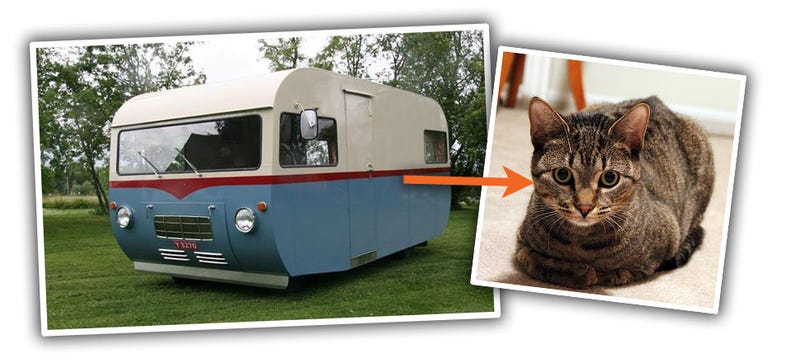 Illustration for article titled This Old Saab Motorhome Looks Like A Kitty Loaf