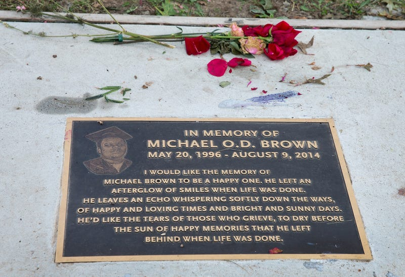 Makeshift Memorial Rebuilt to Note Brown's Shooting Death