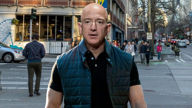 Solemn Jeff Bezos Realizes He Could End Up Like Homeless Man If Just Few Hundred Thousand Things Go Wrong