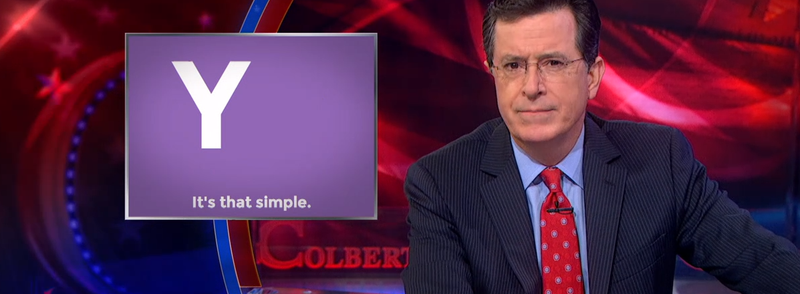 Illustration for article titled Colbert Eviscerates Yo For Being Useless and Dumb