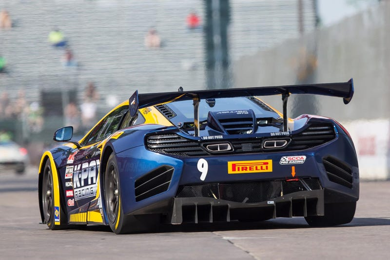 Illustration for article titled Here's What It's Like To Ride In A McLaren 12C GT3 Around Belle Isle