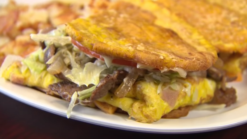 The breakfast jibarito at Chicago's Cafe 23