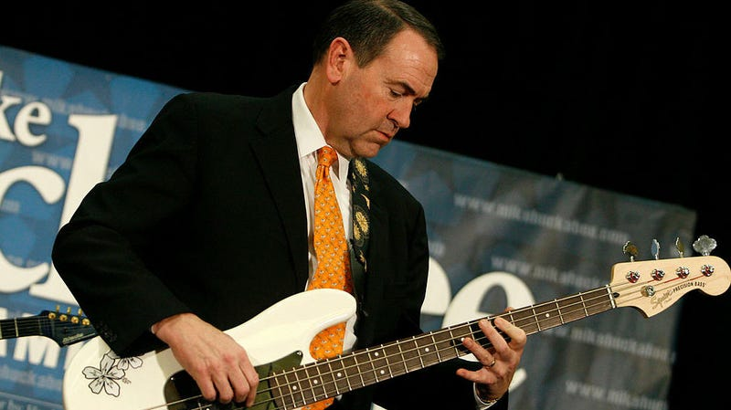 Illustration for article titled So, here's Mike Huckabee playing bass with a member of Korn