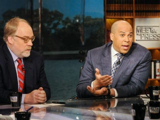 GOP strategist Mike Murphy and Cory Booker (NBC NewsWire)
