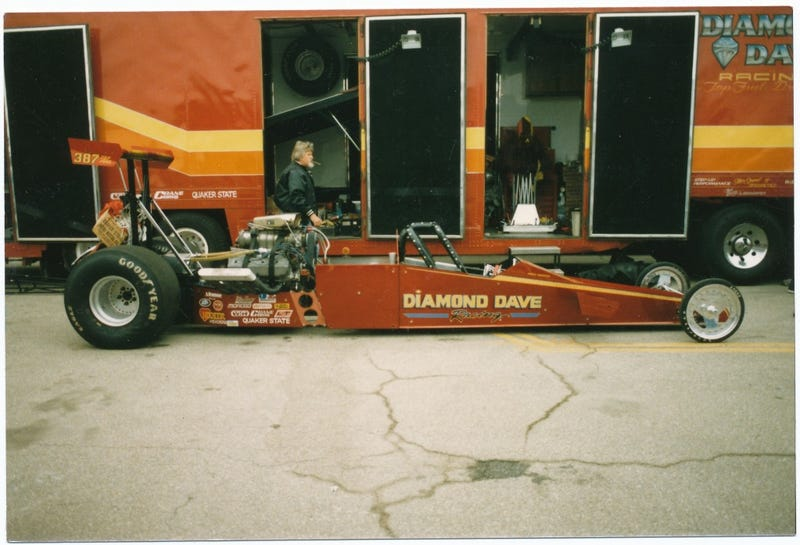 Illustration for article titled Drag Racing was Cooler in the 80's - Reason 1, Diamond Dave's Shorty Dragster