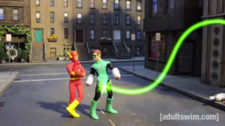 Illustration for article titled Robot Chicken's DC superhero special gives Green Lantern a new power ring (in his pants)