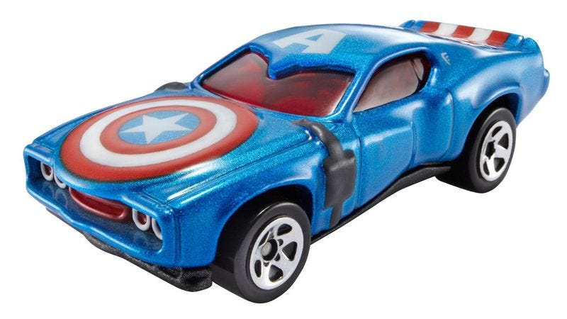 It's Captain America, but as a car.