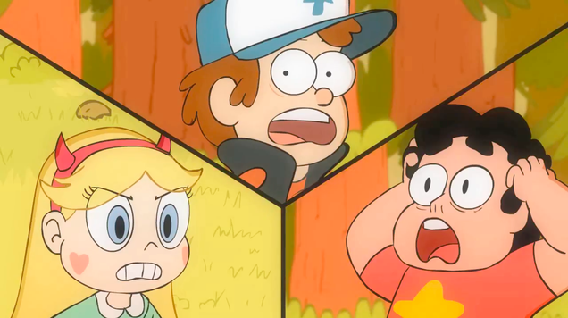 steven universe the gravity falls kids kim possible and more join forces in this epic crossover video