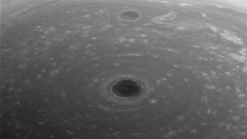 Cassini Stared Into Saturn's Polar Abyss, and It's Creepy As Hell
