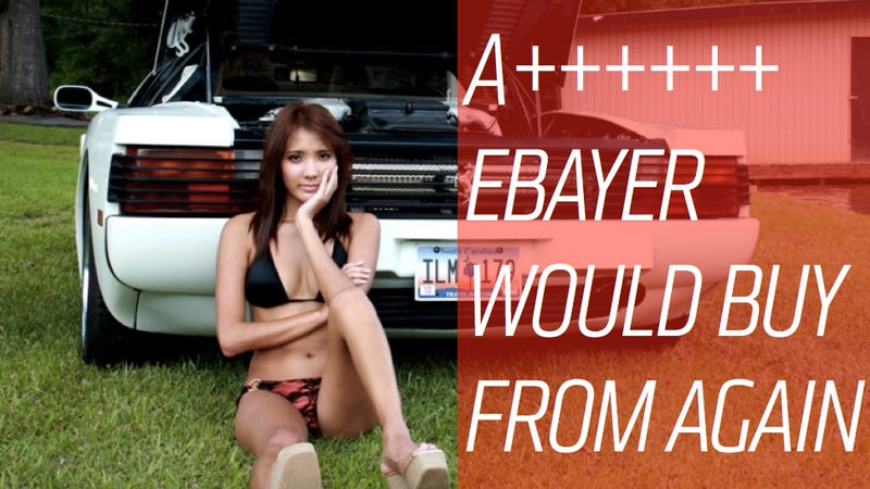 Illustration for article titled Do Pictures Of Barely-Dressed Women Actually Help Sell Cars On eBay?