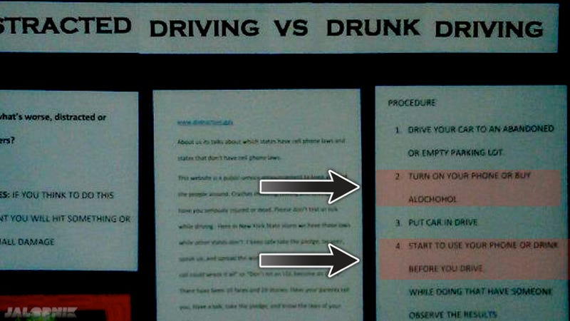 Why should drunk text according science