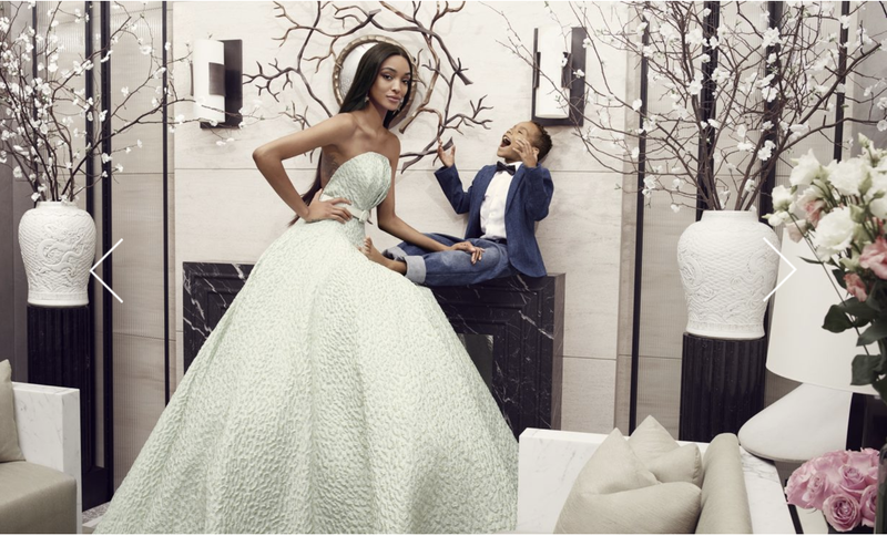 Model Jourdan Dunn and son Riley (courtesy of BrandonMaxwellStudio.com)