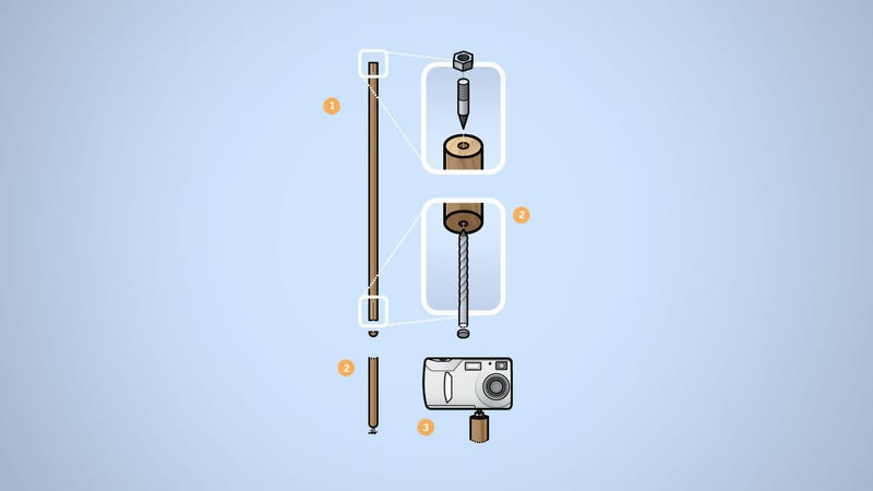 Illustration for article titled Make a Monopod Out of a Broom Handle
