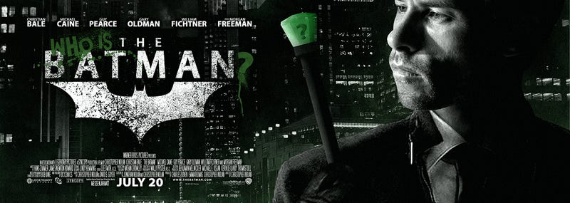 Illustration for article titled What if Guy Pearce played the Riddler in Nolan's third Batman film?