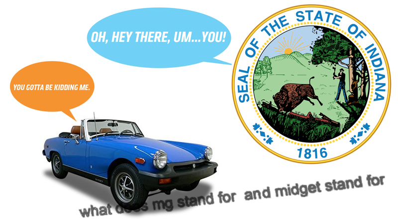 Illustration for article titled The State of Indiana Doesn't Know What an MG Midget Is