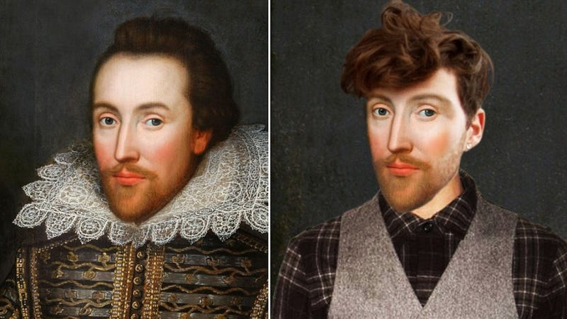 Illustration for article titled Photoshop Proves Once and For All That Shakespeare Was a Hipster
