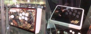 Illustration for article titled Mad Catz Street Fighter IV Sticks Under Glass