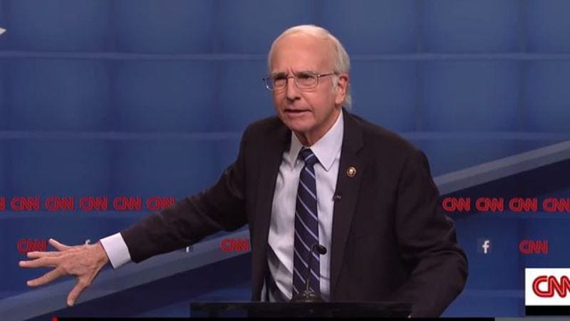 Larry David as Bernie Sanders on Saturday Night Live