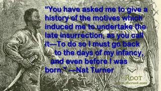 Illustration of Nat Turner captured by Mr. Benjamin Phipps, a local farmerWikimedia Commons