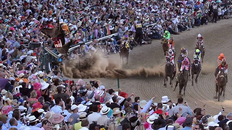Illustration for article titled Pinwheeling, Out-Of-Control Horse Crashes Into Kentucky Derby Stands