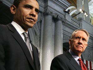 Harry Reid squares off with President Obama.