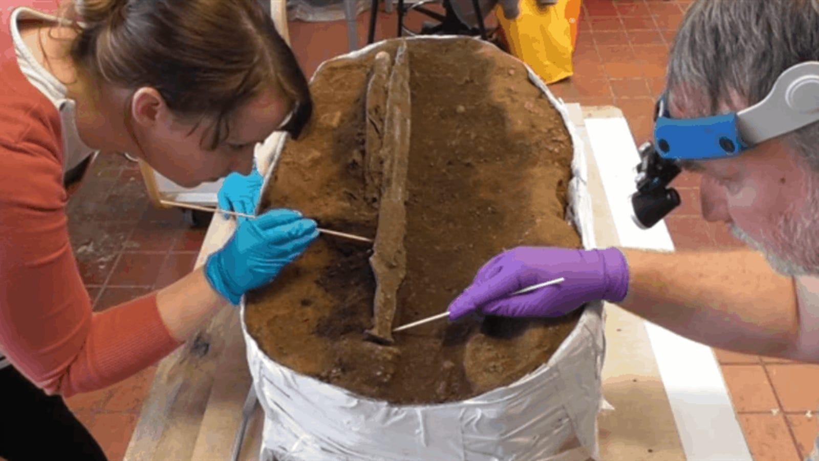 Encuentran una espada de bronce prehistórica que se ha mantenido intacta durante 3.000 años