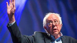 U.S. Sen. Bernie Sanders (I-Vt.) addresses hecklers and supporters at the Netroots Nation 2015 Presidential Town Hall July 18, 2015, in Phoenix.Charlie Leight/Getty Images