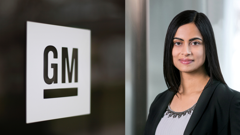 Dhivya Suryadevara, General Motors' next chief financial officer.
