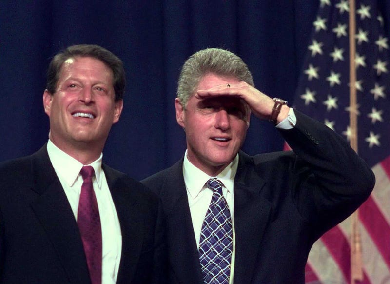 Vice President Al Gore and President Bill Clinton in 1996 (Paul J. Richards/Getty Images)