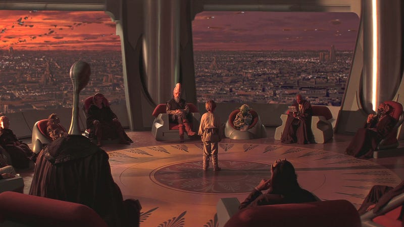 George Lucas still loves talking about the Jedi, seen here in The Phantom Menace. Image: Fox