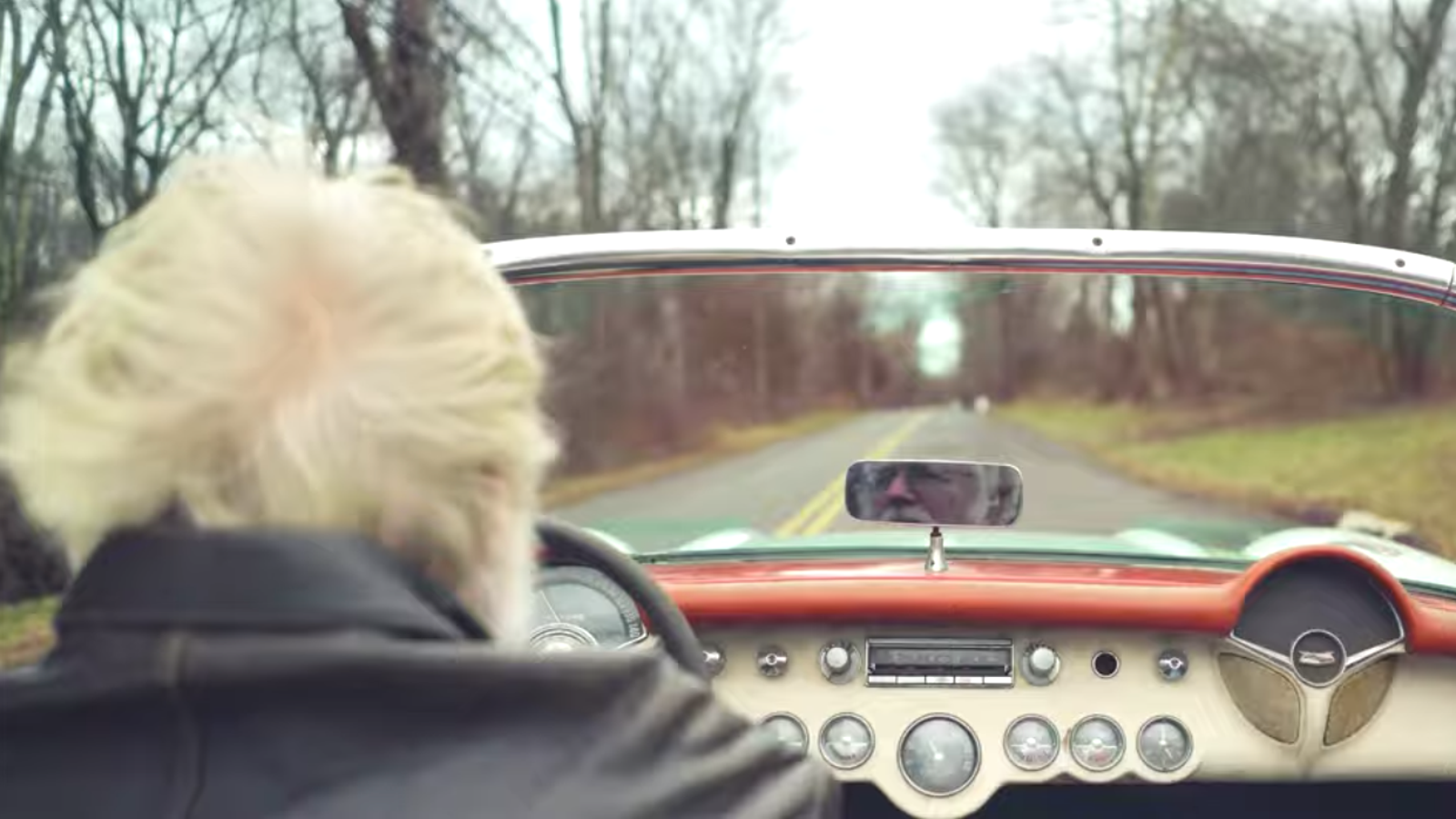 This Guy Still Driving His Unrestored 1957 Corvette Has Life Figured Out