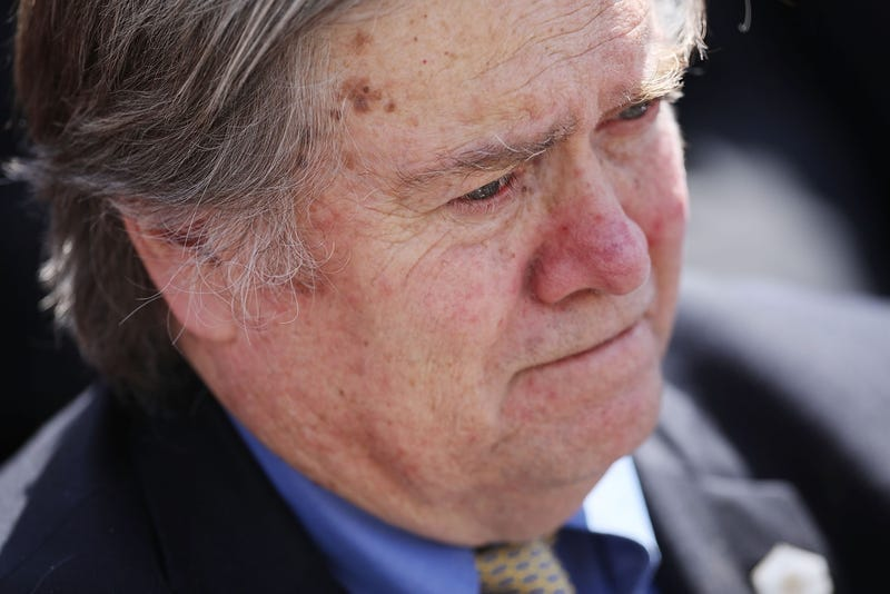 White House Chief Strategist and former head of Breitbart Steve Bannon at the White House on April 10, 2017 (Photo by Chip Somodevilla/Getty Images)