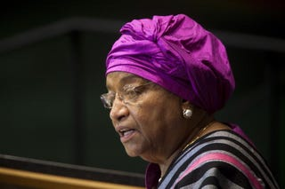 Liberia's President Ellen Johnson Sirleaf (Getty)